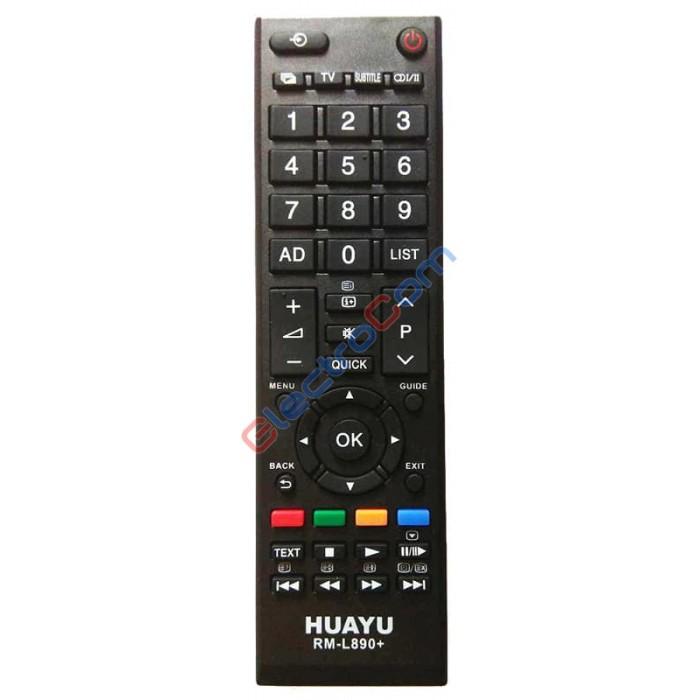 Пульт ДУ Huayu RM-L890+ - универсальный пульт для телевизора Toshiba