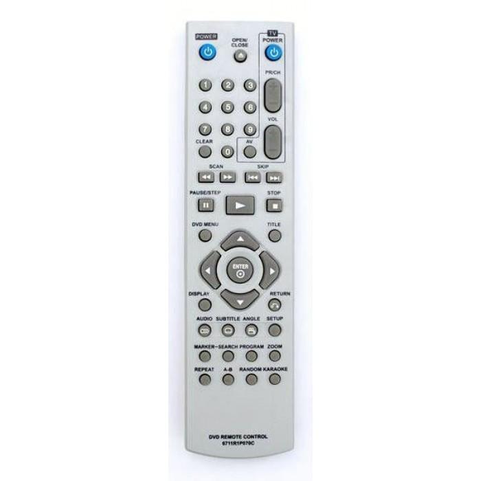 Пульт ДУ для TV/DVD LG (6711R1P070C)