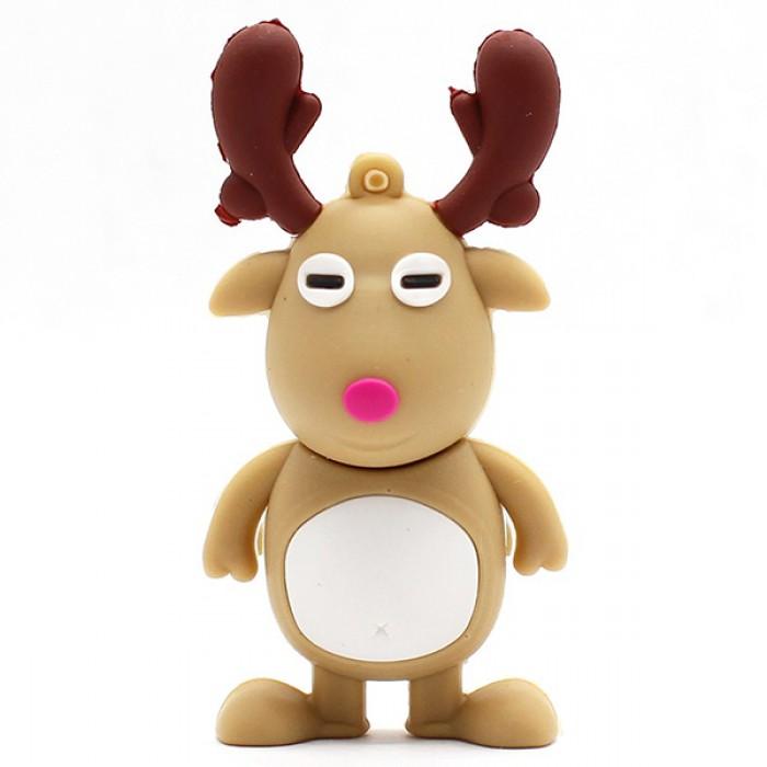 Флешка USB 8Gb ElectroCom Christmas - Deer (Рождество - Олень)
