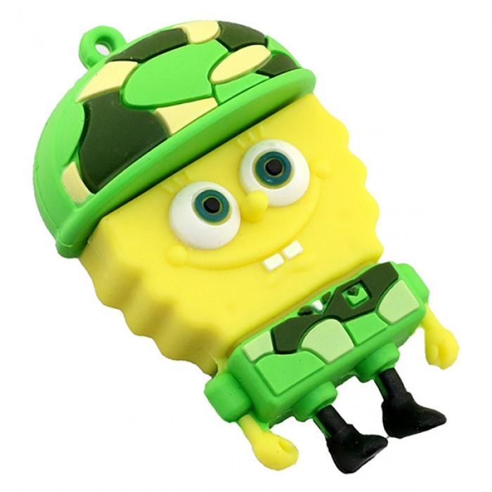 Флешка USB 8Gb ElectroCom Sponge Bob Soldier (Губка Боб Солдат)