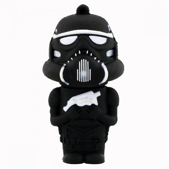 Флешка USB 8Gb ElectroCom Star Wars - Storm Trooper, Black (Звёздные Войны - Штурмовик, Черный)