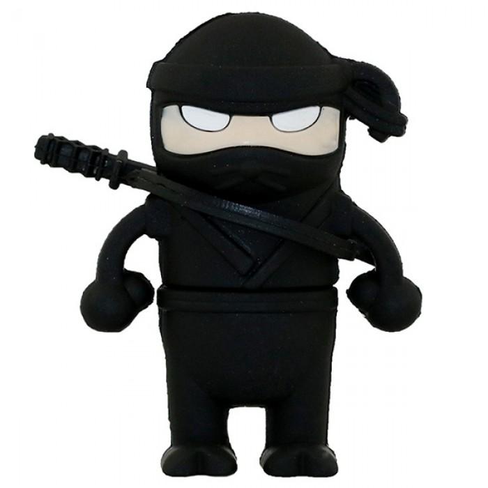 Флешка USB 8Gb ElectroCom Warrior Ninja Black (Воин Ниндзя, Черный)