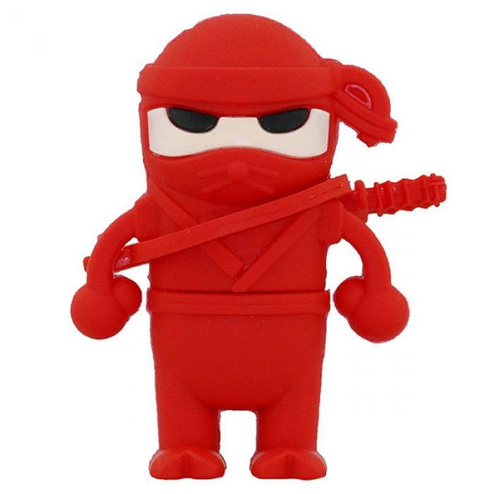 Флешка USB 8Gb ElectroCom Warrior Ninja Red (Воин Ниндзя, Красный)