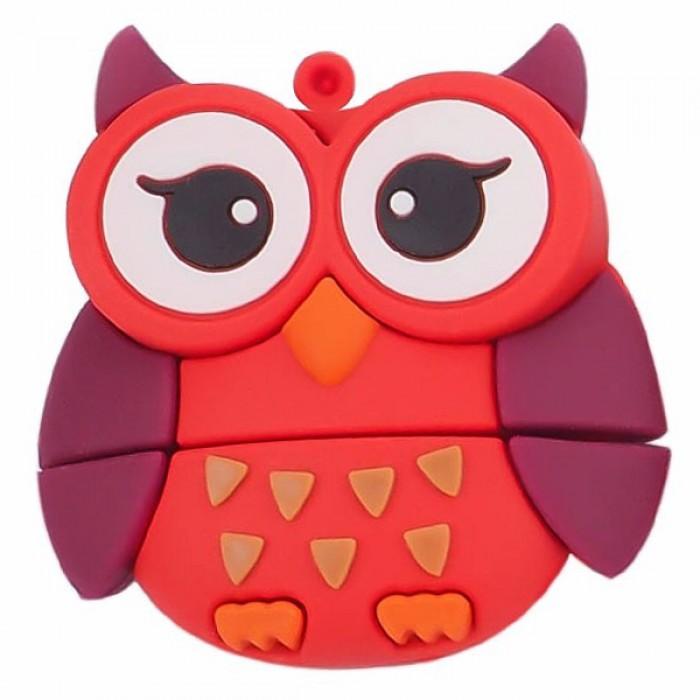 Флешка USB 8Gb ElectroCom Five Animals - Owl (Сова)
