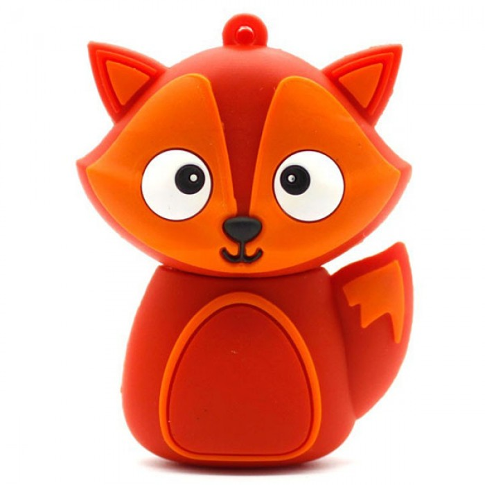 Флешка USB 8Gb ElectroCom Five Animals - Fox (Лисёнок)