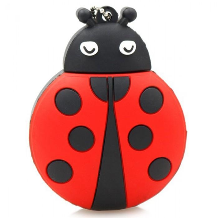 Флешка USB 8Gb ElectroCom Ladybug (Божья Коровка)