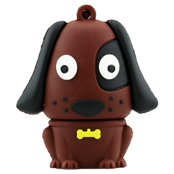 Флешка USB 8Gb ElectroCom Pug Dog Brown (Мопс Коричневый)