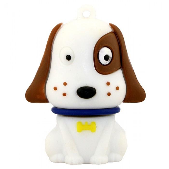Флешка USB 8Gb ElectroCom Pug Dog White (Мопс Белый)