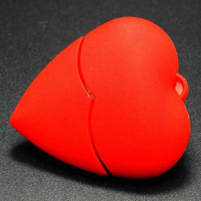 Флешка USB 8Gb ElectroCom Red Heart (Красное сердце)