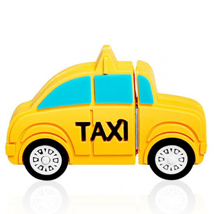 Флешка USB 8Gb ElectroCom Taxi, Yellow (Такси, Желтая)