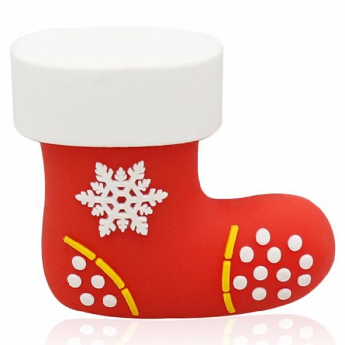 Флешка USB 8Gb ElectroCom Christmas - Boot (Рождество - Сапог)
