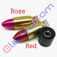 Флешка USB 8Gb ElectroCom Lipstick, Red (Губная Помада, Красная)